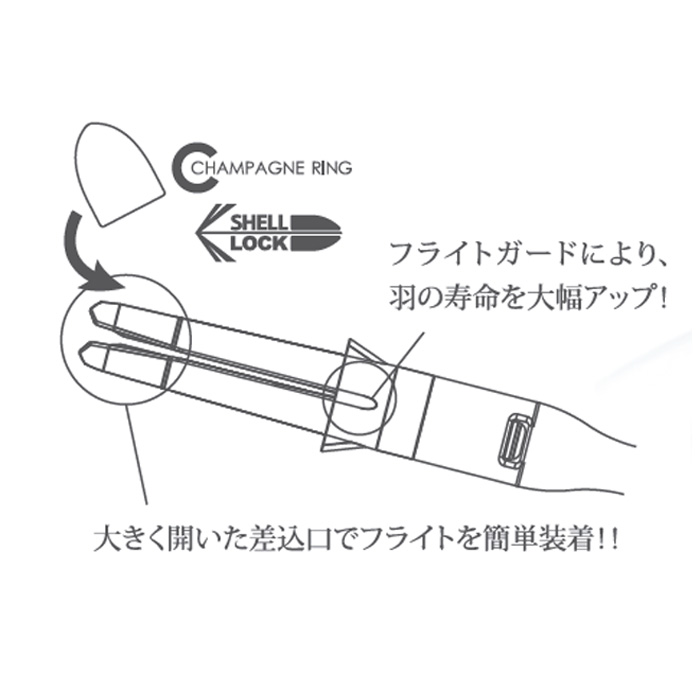 L-style L-SHaftカーボン ロック ストレート