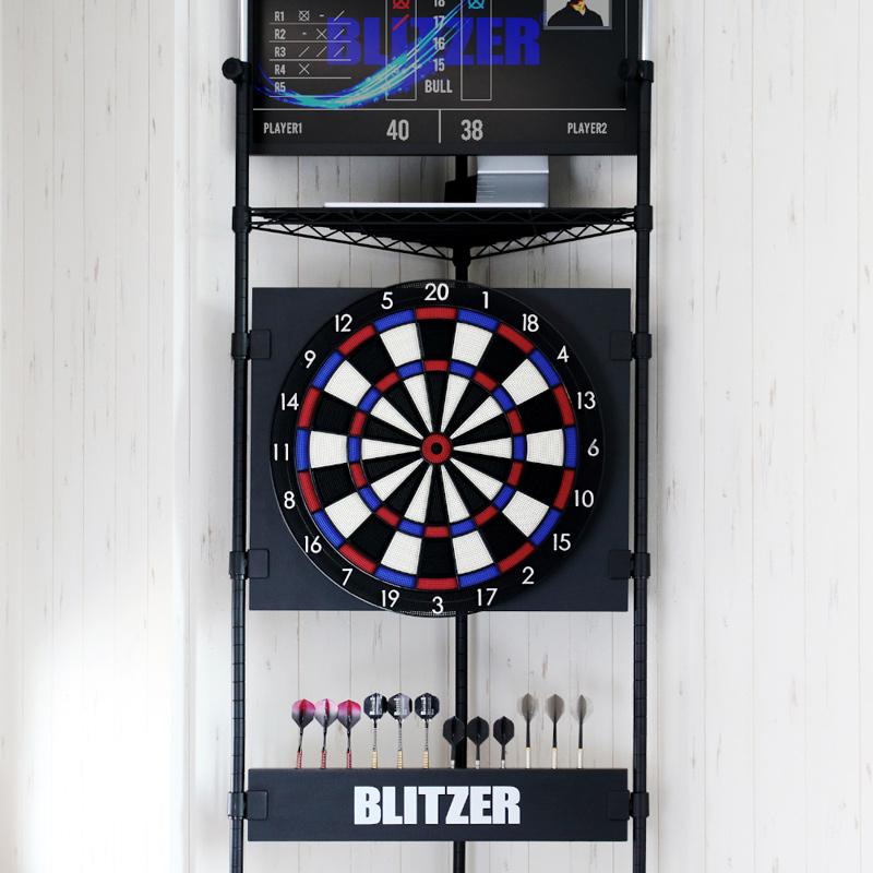 BLITZER 【ブリッツァー】 コーナーダーツスタンド BSD31-BK (Corner Darts Stand)