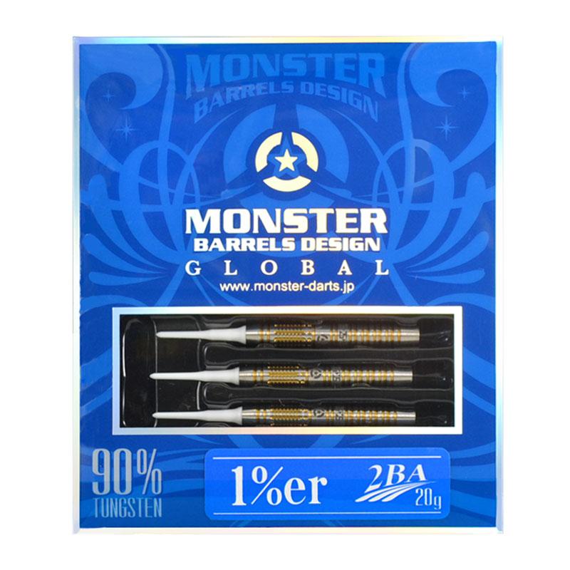 MONSTER DARTS【モンスターダーツ】 ワンパーセンター (1%er Tungsten90%) | ダーツ 2BAバレル 18.0g