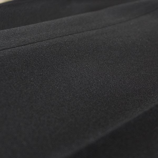 ■夏物 ビジネススラックス■●ツータック ブラック●【メール便[×]非対応】(紳士 メンズ 仕事着 パンツ ズボン オフィス ポリエステル すそ上げ済み ウォッシャブル パイピングポケット コインポケット)