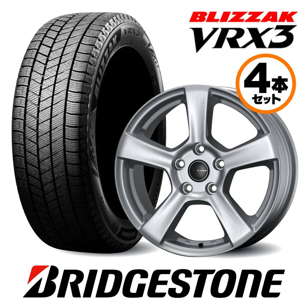 16インチ Mセット ブリヂストン VRX2 Cクラス 205/Aクラス 177/Bクラス 247用 スタッドレスタイヤ&TRGホイールセット