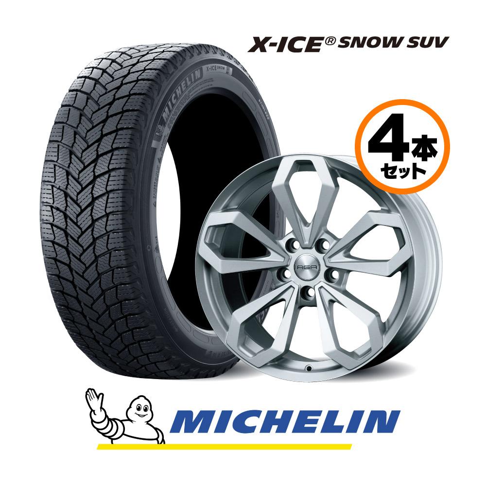 18インチ Jセット ミシュラン X-Ice SNOW SUV 旧型 イヴォーク用 スタッドレスタイヤ&AGAホイールセット