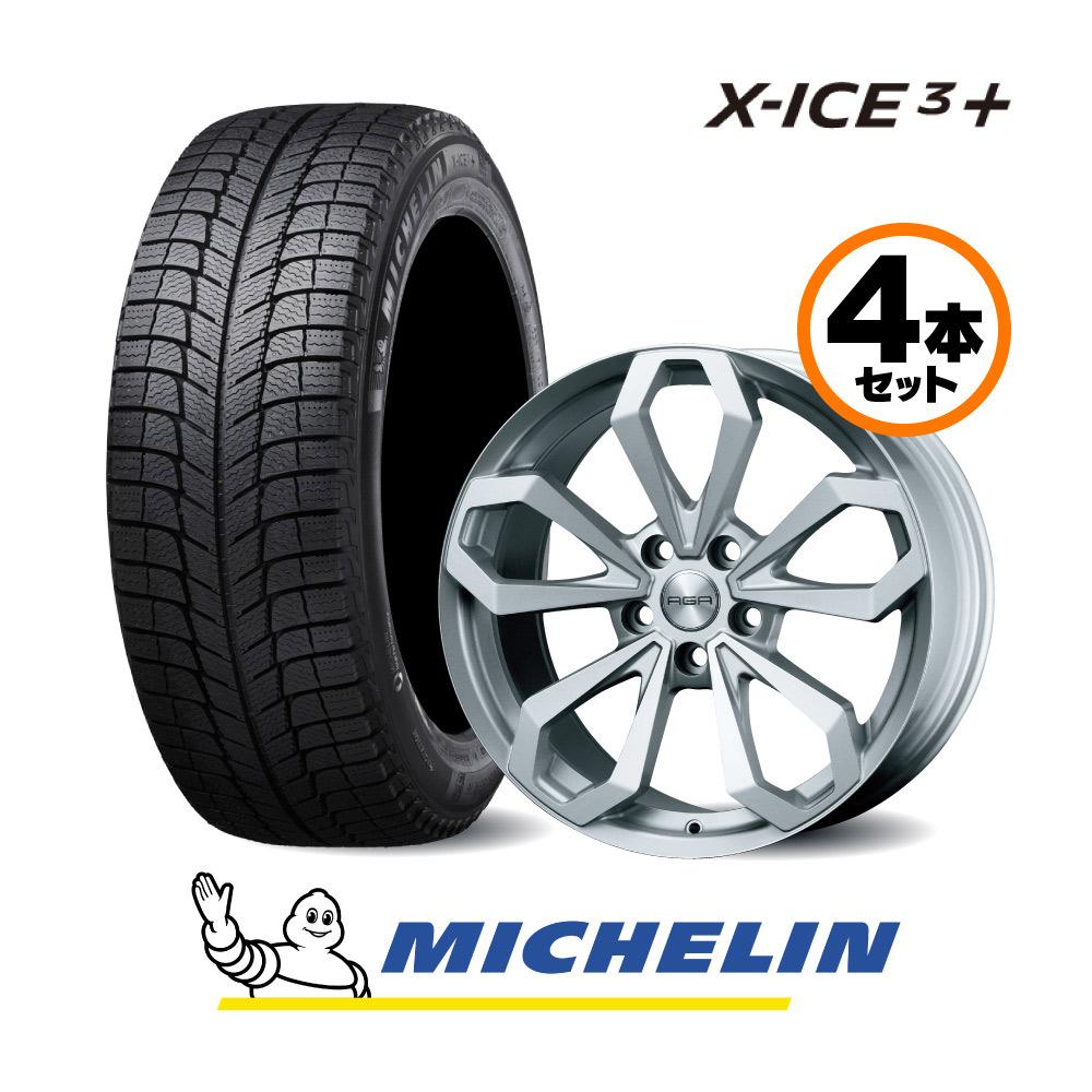 18インチ Gセット ミシュラン X-Ice3+ 旧型 GLE SUV 166//Mクラス 166用 スタッドレスタイヤ&AGAホイールセット