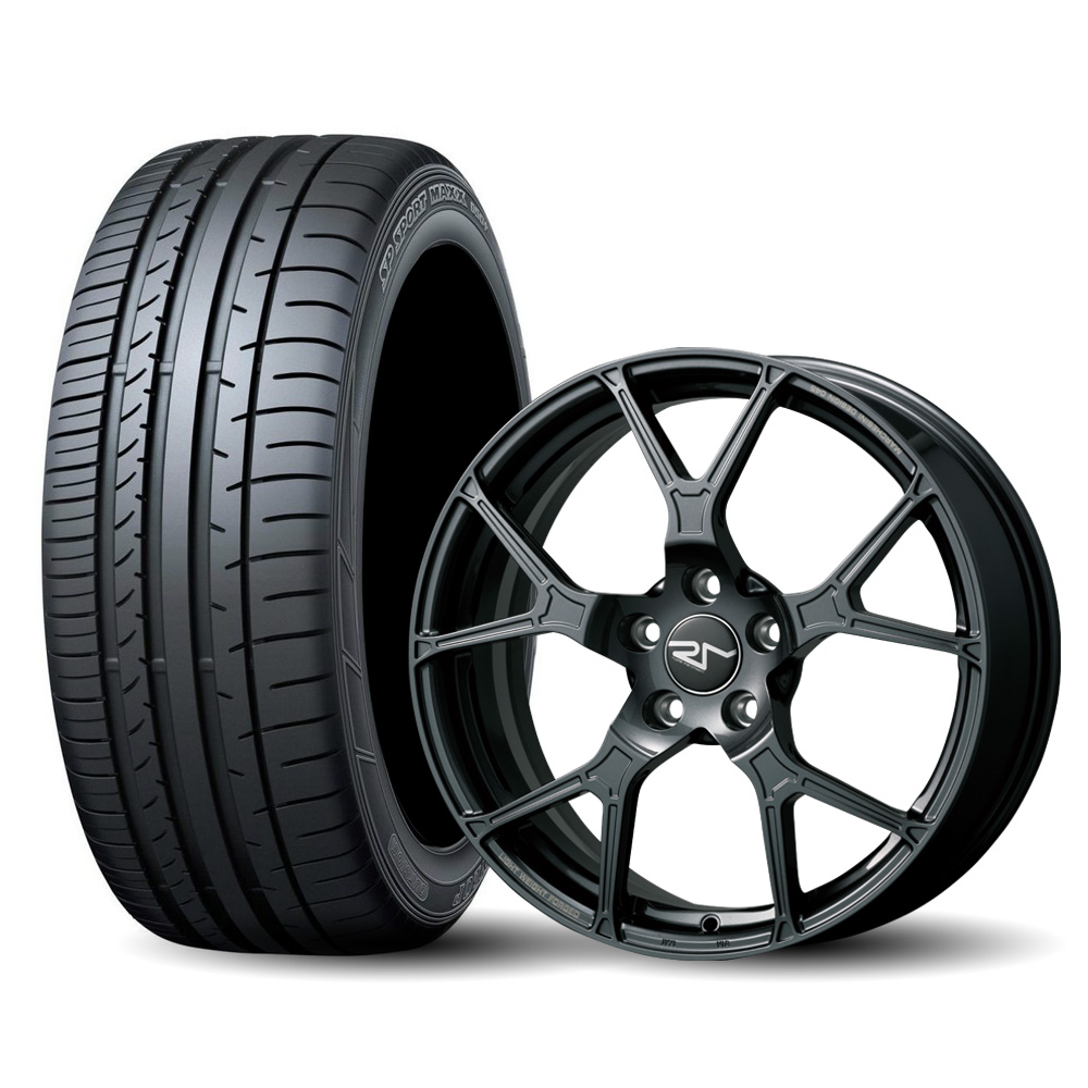 【完売致しました】4本セット DUNLOP MAXX 050+ 225/40ZR18(サマータイヤ)& ruote marchesini 【鍛造ホイール】VW GOLF/AUDI A3/S3 SB用 F045 7.5Jx18 50 5H 112