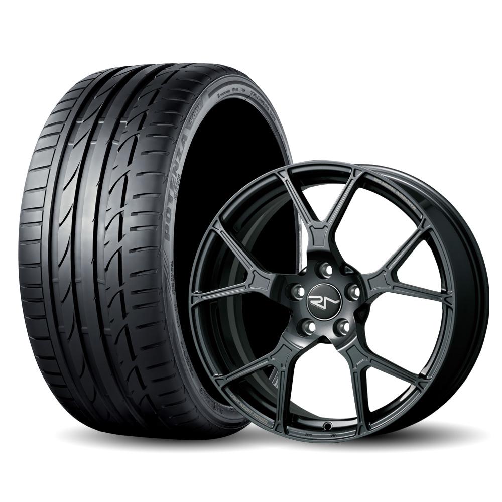 【完売致しました】4本セット BRIDGESTONE POTENZA S001 225/40R18(サマータイヤ)& ruote marchesini 【鍛造ホイール】VW GOLF/ AUDI A3/S3SB用 F045 7.5Jx18 50 5H 112