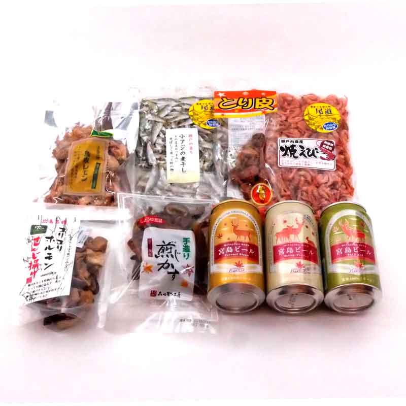 宮島ビールとディープ広島おつまみセット
