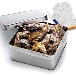 殻付き牡蠣の缶焼き2kg(瀬戸内産):産地直送便(料金はエリアにより異なります)