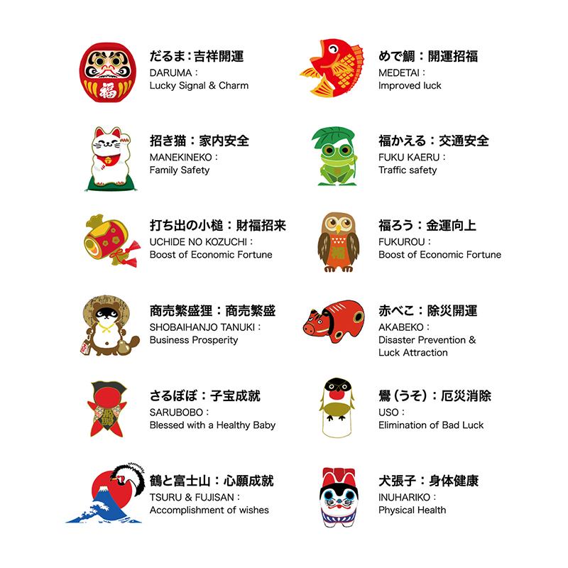KT-401-6 幸(しあわせ)シール・千社札 【クリックポスト対応商品/代引き不可】