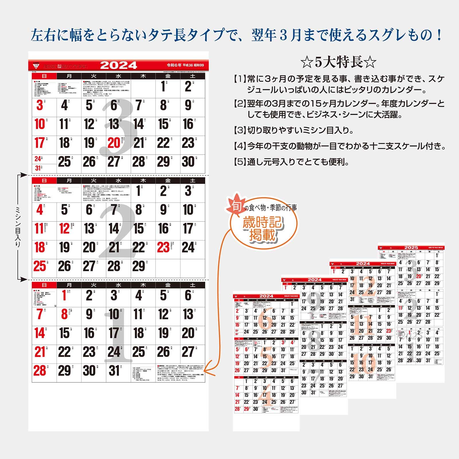 TD-795 3ヶ月文字(15ヶ月)−下から順タイプ−(2021年版)