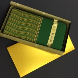 博多織 波筬長財布(ファスナー付) 金茶