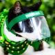 【aruBuy限定カラー】猫用フェイスシールド【NYANMEN SHIELD】 緑