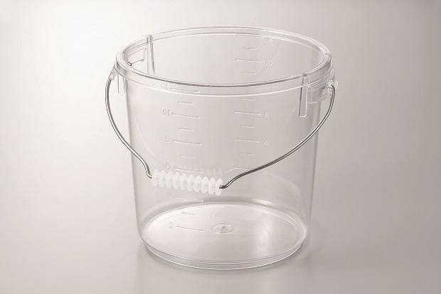 【ガラスのように透明】ポリカバケツ 10リットル(フタ無し)