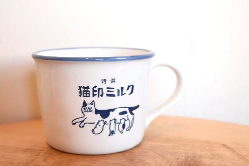【予約商品】猫印ミルクマグカップ(白)