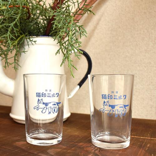 【予約商品】猫印ミルクグラス
