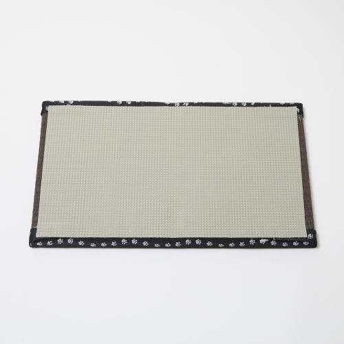 【予約商品】畳がニャンとベッド ごろニャン畳 栗色(縁:肉球)
