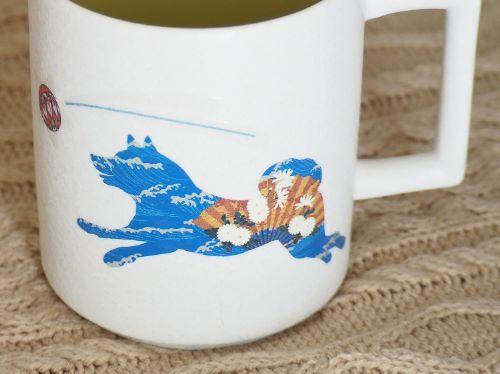温感マグ 柴犬 チタン白マットSL4-5275