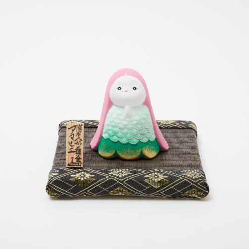 【予約商品】フィギュア(人形)台座 飾り畳(ミニ畳) 栗色(縁:大和大菊菱銀)