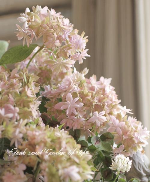 tef*tef*寄せ植え 2016<BR> * no.46 *<BR>秋色紫陽花マルルーのパステル