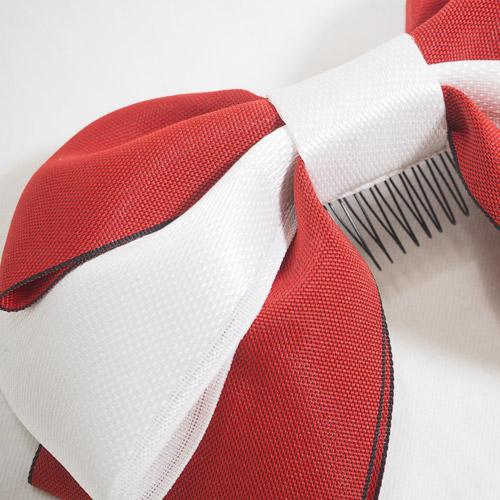髪飾り_紅白リボン(大)