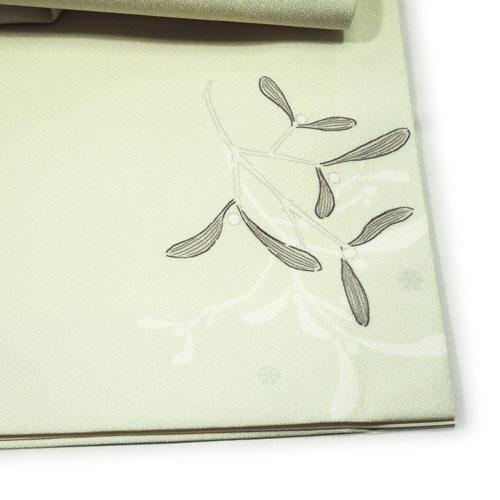 京袋帯_柊リース(アイボリー)
