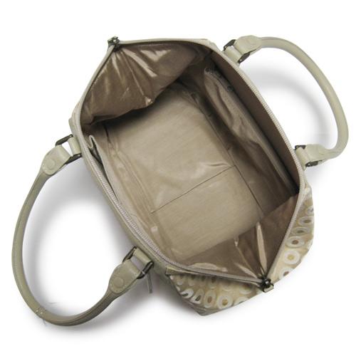 和装バッグ_布と牛革のバック