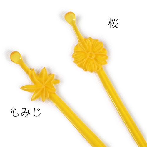 鼈甲風平かんざし(もみじ・桜)
