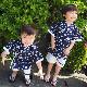 子供用甚平(藍桜)_男の子※90cmあります