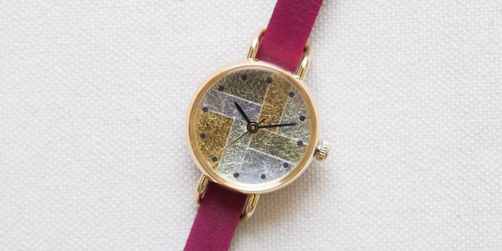 オリジナル時計 箔 レディース イエローゴールド