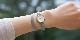 オリジナル時計 市松紋 レディース シルバー