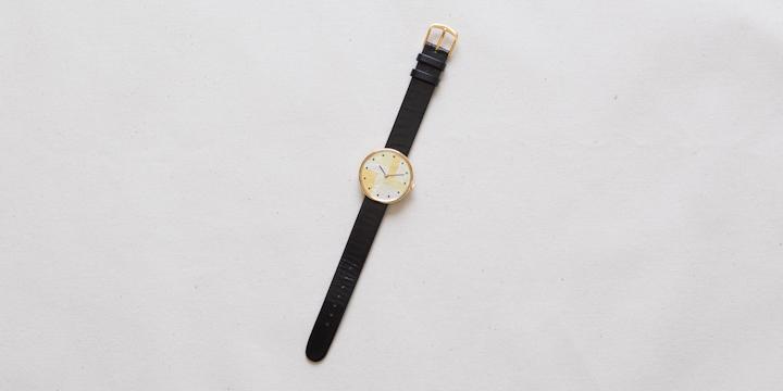 オリジナル時計 箔 ユニセックス イエローゴールド