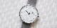 オリジナル時計 市松紋 ユニセックス シルバー