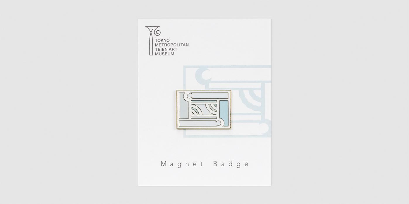 オリジナル マグネットバッジ手摺装飾