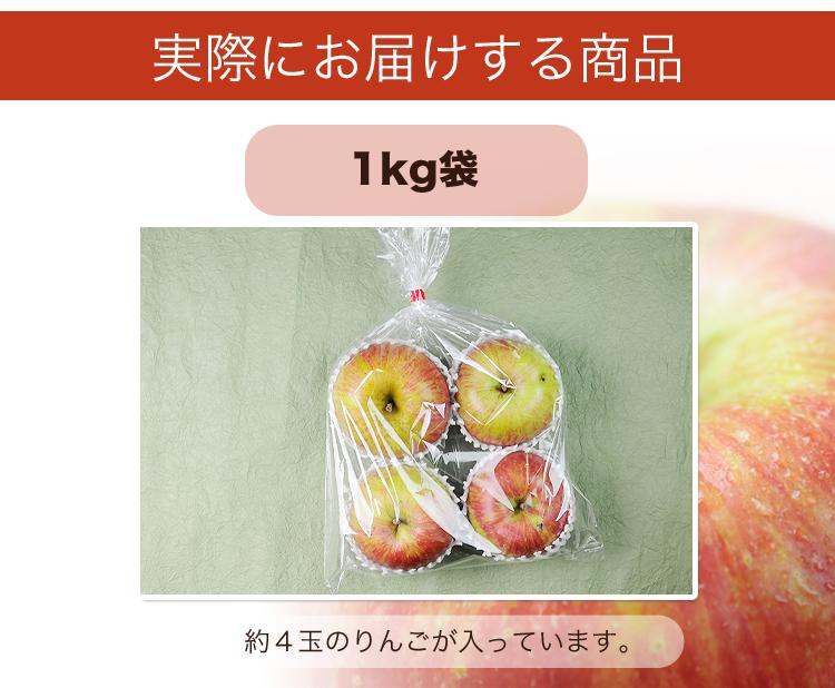 長野県産 りんご 1kg 特別栽培農産物 さみず  国産 訳あり B品 規格外品 林檎