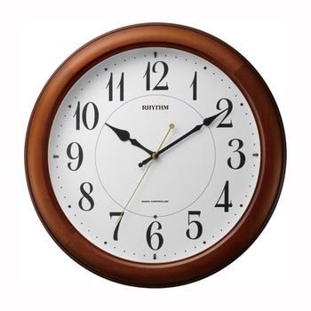[4MYA25SR06] 電波掛時計 ピュアライトM25 茶色半艶仕上(白)