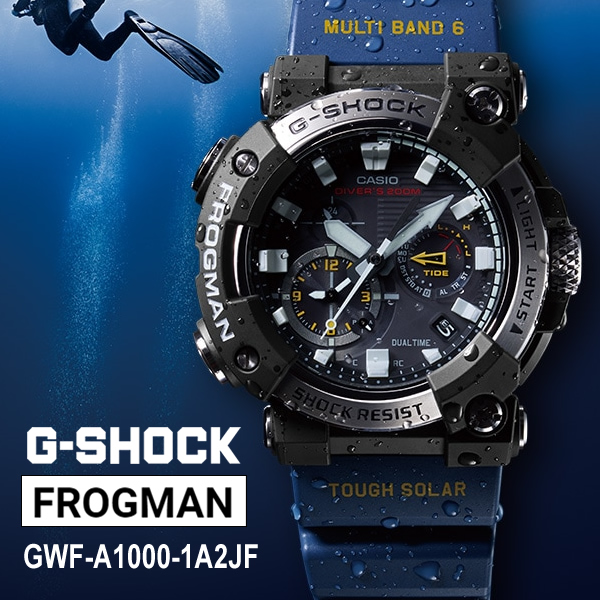[GWF-A1000-1A2JF] G-SHOCK MASTER OF G FROGMAN TOUGH MVT ソーラー電波時計