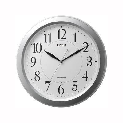 [4MYA26SR19] 電波掛時計 ピュアライトM26 シルバーメタリック色(白)