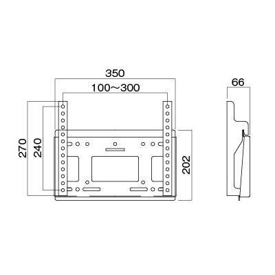[MH-451B] HAMILeX 薄型テレビ壁掛金具 角度固定タイプ ブラック (〜43V型くらい)