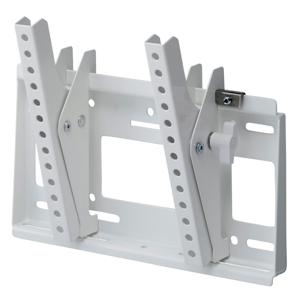 [MH-453W] HAMILeX 薄型テレビ壁掛金具 角度調節タイプ(前後チルト) ホワイト (〜43V型くらい)
