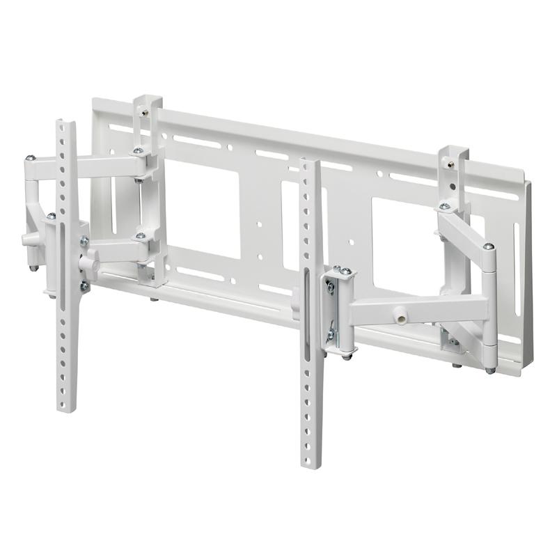 [MH-775W] HAMILeX(ハミレックス) 薄型テレビ壁掛金具 角度調節タイプ(前後チルト/左右首振り) ホワイト (〜70V型)