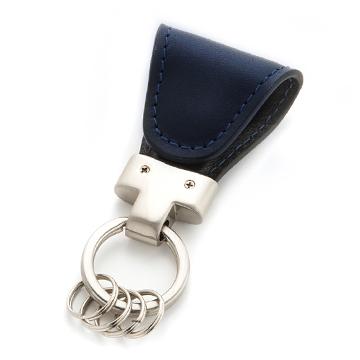 [4562277710212] Key Clip navy イタリアンレザー マグネットクリップキーホルダー Vintage Revival Productions★