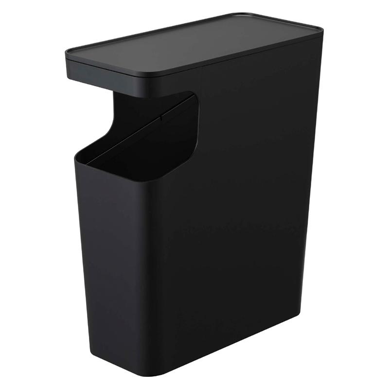 [03989-5R2] tower タワー ダストボックス&サイドテーブル ブラック 3989 ローテーブル ゴミ箱 ソファ★
