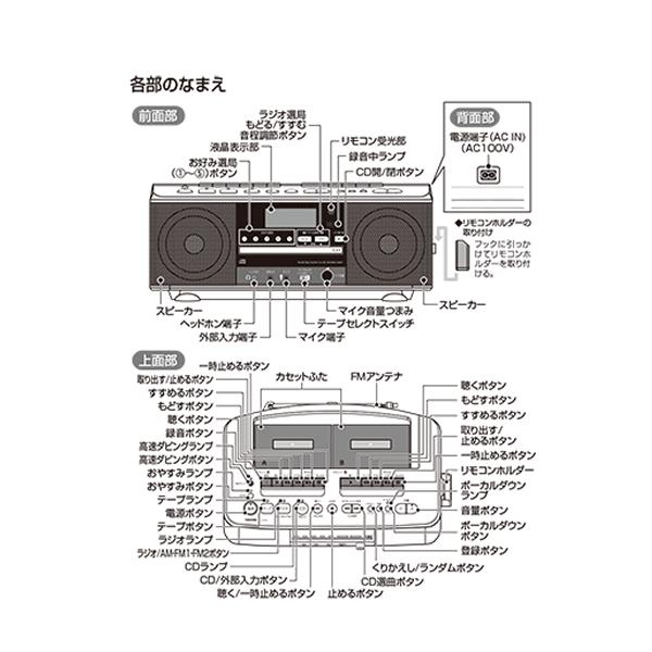 [TY-CDW990-S] CDラジオカセットレコーダー シルバー