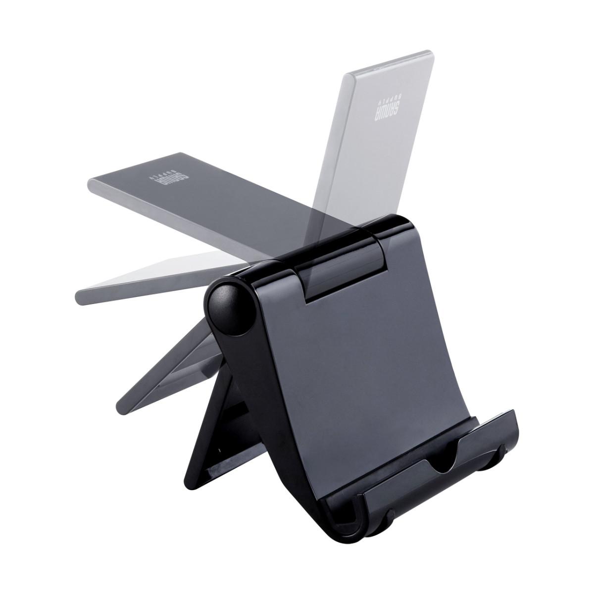 [PDA-STN7BK] 折りたたみ式iPadスタンド(ブラック)