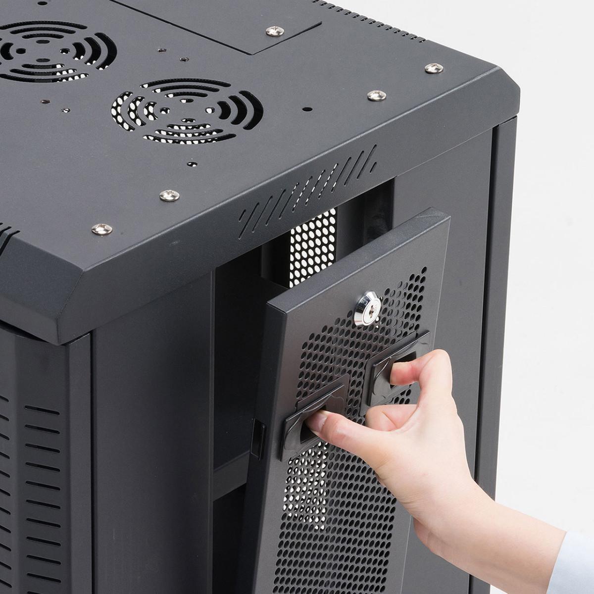 [CP-SVCMULT5] 【代引き不可】マルチ収納ラック (W450xD420xH700mm) 鍵付き