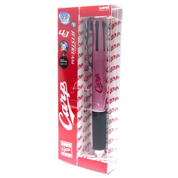 [4902778899359] ジェットストリーム4&1 (4色ボールペン+シャープペン(0.5mm)) 広島カープモデル(ライトピンク)★