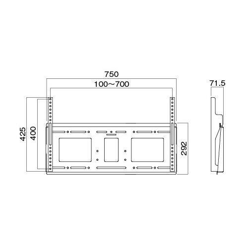 [MH-851B] HAMILeX 薄型テレビ壁掛金具 角度固定タイプ ブラック (〜85V型くらい)