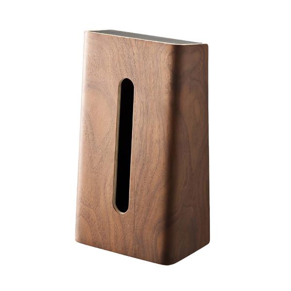 [06732] RIN リン ティッシュケース ブラウン 6732 木製 ティッシュペーパー ボックス カバー 箱★