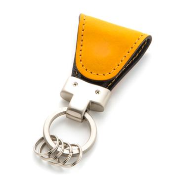 [4562277710236] Key Clip yellow イタリアンレザー マグネットクリップキーホルダー Vintage Revival Productions★
