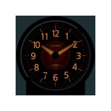 [4RL435-006] めざまし時計 エフライトR435 茶メタリック色