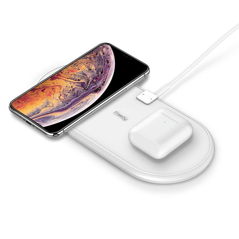 [EA1202WH] Qi対応 Freedy Flex Dual Wireless Charging Pad 10Wx2 デュアル充電パッド ホワイト